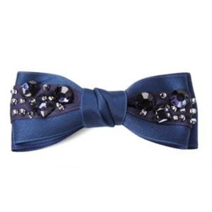 Navy Jewelled Hair Clip